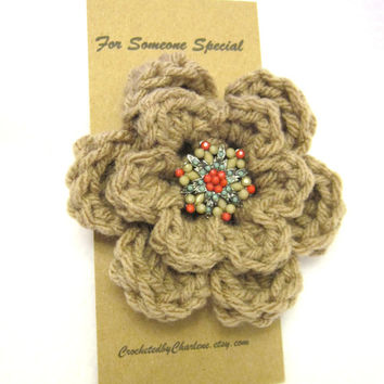 Flower Brooch, Mothers Day Gift, Flower Pin