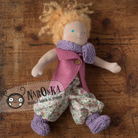 "Waldorf doll - Traditional dressable Waldorf Doll 35 cm / 13.8"" in ali baba trousers, blond"