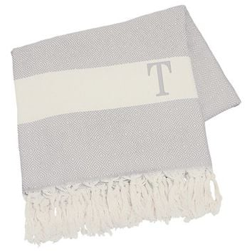 Cathy's Concepts Personalized Turkish Cotton Throw - Grey