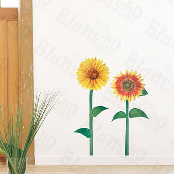 Sunflowers - Medium Wall Decals Stickers Appliques Home Decor