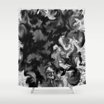 Feathers Shower Curtain by Jveart