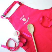 Kids Personalised Embroidered Apron