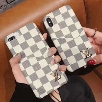 Perfect Louis Vuitton LV Fashion iPhone X XR XS XS MAX Phone Cover Case For iphone 6 6s 6plus 6s-plus 7 7plus 8 8plus X