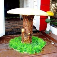 2 Toad Stools Mushrooms child chairs Playhouse tree by Royalkane