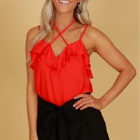 Classic High Waisted Tie Shorts Black