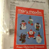 Mary Maxim Needlework and Crafts Foam Christmas Ornament Kit