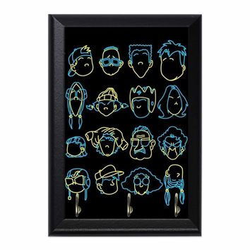 Recess Heads Decorative Wall Plaque Key Holder Hanger