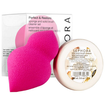 Sephora: SEPHORA COLLECTION : Perfect & Restore Sponge and Solid Brush Cleaner Set : sponges-applicators-makeup-brushes-applicators-makeup