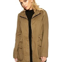 Come Through In Cargo Jacket - Outerwear - Womens