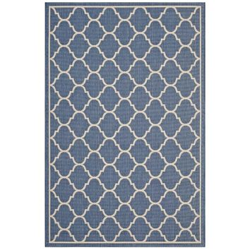 Avena Moroccan Quatrefoil Trellis 8x10 Indoor and Outdoor Area Rug - R-1137A-810
