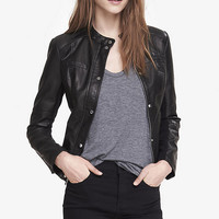 (MINUS THE) LEATHER COVERED PLACKET JACKET from EXPRESS