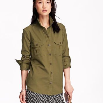 Old Navy Womens Classic Twill Shirt