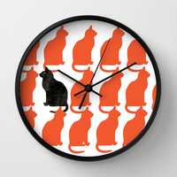CATTERN SERIES 2 Wall Clock by catspaws