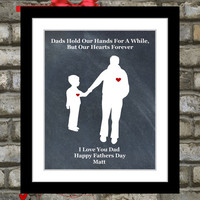 Custom Fathers Day Gift: To Dad Daddy From Son Home Decor Wall Art Unique Print Picture Choose Custom Colors