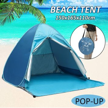 Automatic Instant Pop Up Tent Velaria Beach Portable Sun Shade 150x165x110cm