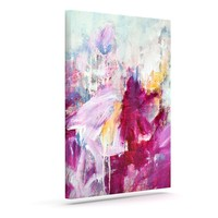 "Iris Lehnhardt ""Magenta"" Pink Paint Canvas Art - Outlet Item"