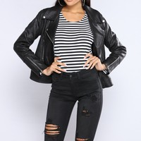 Bad Gal Moto Jacket - Black