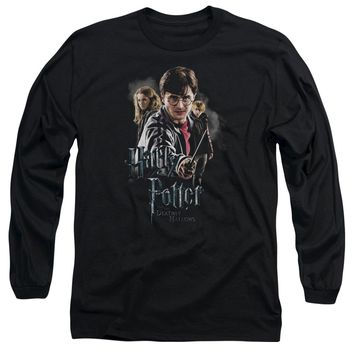 Harry Potter - Deathly Hollows Cast Long Sleeve Adult 18/1 Officially Licensed Shirt