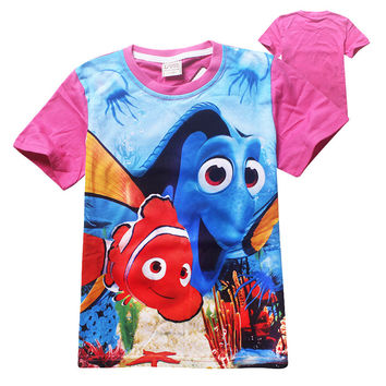 2016 Fashion Children Cartoon Finding Dory T-Shirt Girls Tops Finding Nemo Kids Baby Girls Boys T shirts Child Clothes Clothing