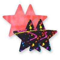 Nippies® Painted Love Star Pasties Painted Love Star Pasties Rainbow A-DD