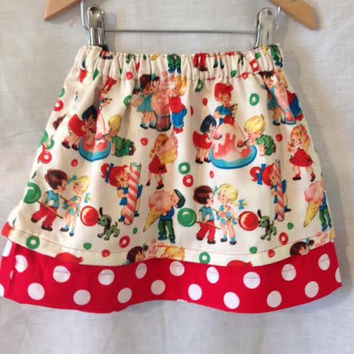 Girls Skirt,  Unique Girls skirt for Vintage Teaparty - 1st Birthday Party Oufit, Girls Birthday Teaparty Skirt, Gift for Birthday Girl