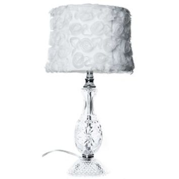 Clear Glass Lamp with White Rosette Shade | Shop Hobby Lobby