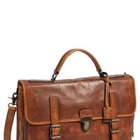Men's Frye 'Logan' Leather Buckle Briefcase