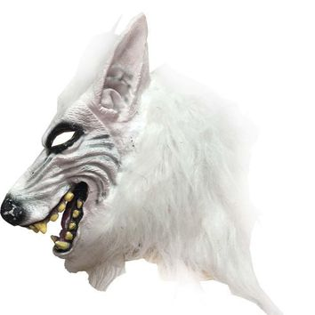 Wolf  Head Mask Creepy Halloween Costume Theater Prop Latex Rubber Novelty Masks latex animal masks