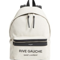 Saint Laurent City Mini Rive Gauche Backpack | Nordstrom