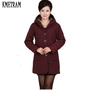 European new 2017 women Cotton coat Fat mm spring autumn winter plus size cotton-padded jacket trench loose outerwear L-6XLG0988