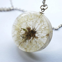 One True Dandelion Necklace 03 Resin by NaturalPrettyThings