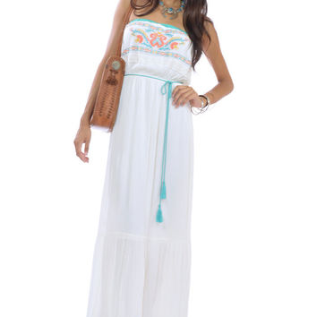 Strapless Festival Maxi Dress