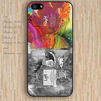 iPhone 5s 6 case cartoon Dream catcher colorful right brain left brain phone case iphone case,ipod case,samsung galaxy case available plastic rubber case waterproof B463