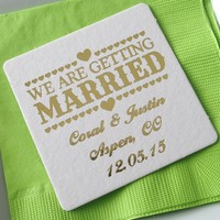 Personalized Save the Date Coasters