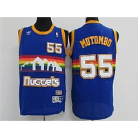 Classic NBA Basketball Jerseys Denver Nuggets #55 Dikembe Mutombo