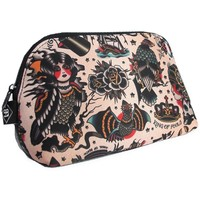 Liquorbrand Traditional Americana Tattoo Art Cosmetic Bag Pouch