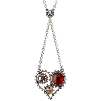 Alchemy Gothic Coeur du Moteur Pendant Necklace Steampunk Heart