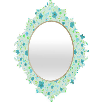 Lisa Argyropoulos Retro Forget Me Nots Baroque Mirror