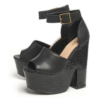 Contrast Heel  Wedge