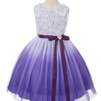 Layla Mae Ombre Flower Girl Dress in Purple