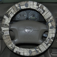 Paris Theme Steering Wheel Cover, Cute Girly Cotton Car Wheel Cover, Made in USA