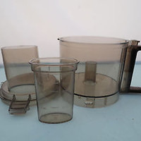 Vintage Sunbeam Le Chef Food Processor Container Bowl w/ Lid and Feed Chute D