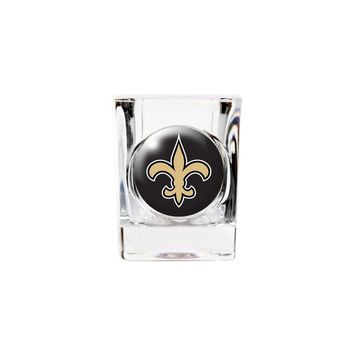 New Orleans Saints 2oz Square Shot Glass - Etching Personalized Gift Item