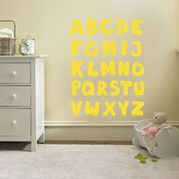 Wall Decal Vinyl Sticker Alphabet Letters Song Notes Music Nursery B343