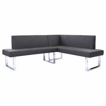 Amanda Contemporary Nook Corner Dining Bench-Armen Living