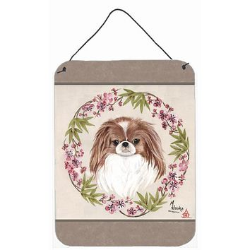 Japanese Chin Wreath of Flowers Wall or Door Hanging Prints MH1009DS1216