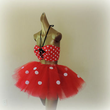 Adult minnie mouse, Adult tutu, halloween tutu costume, adult tutu dress, Minnie mouse , sexy womens costume