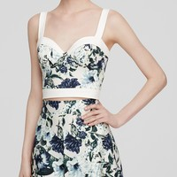 ABS by Allen Schwartz Top - Sleeveless Floral Print Bustier