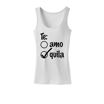 59c95580e Tequila Checkmark Design Womens Tank Top by TooLoud