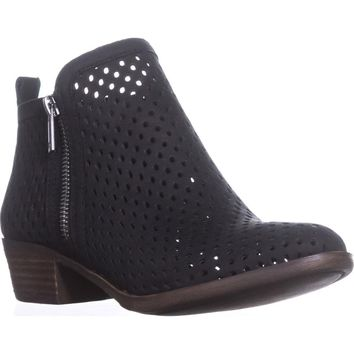 Lucky Basel3 Perforated Ankle Boots, Black Lugo, 6 US / 36 EU